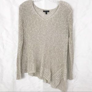 Eileen Fisher Oatmeal Airy Linen Grain Pullover M